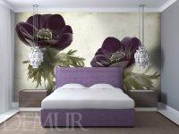 Sypialnia, fototapeta w kwiaty