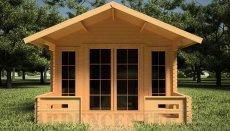 domki z drewna do ogrodu